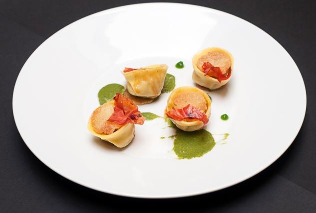 tortelli ripieni di lampredotto con salsa verde